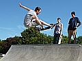Adam Walder astonishes the bemused locals with this unknown grab at Andover skatepark