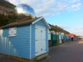 Beach hut globe sculpture, Westcliff, Bournemouth