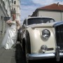 The bride Birute, and her wedding car...