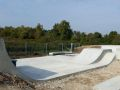 Bourne Valley skatepark - transition section, Poole