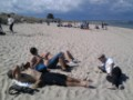 Sunbathing in Studland, while it was raining in Bournemouth :)