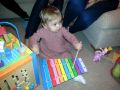 Birthday present success! Camille knocking out tunes on her xylophone :)