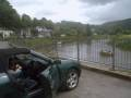 CJs car by the picturesque river in Tintern, in the Forest of Dean