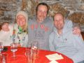CJ, Dom and George at Le Caveau restaurant in Chamonix