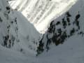 CJ in an untouched backcountry gulley at Le Tour