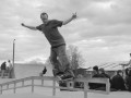 Dom, backside smith at Ringwood - study in monochrome