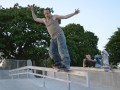 Dom, feeble on the flat-down rail at Ringwood