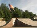540 tailgrab over the hip at Brighton's Level skatepark