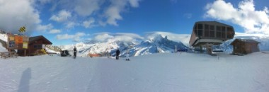 Panorama at the top of the Index lift at Flegere
