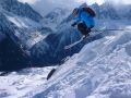 George airbourne at Flegere, Chamonix