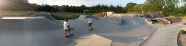 Hedge End skatepark panorama, near Southampton