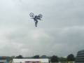 FMX rider going inverted at NASS