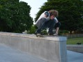 James with a slightly set-up boardslide at Ringwood