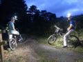 jon and Paul lighting up the darkness in Canford Heath on a night bike ride...