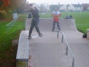 Lewis stuck this tailslide down the Mere hubba in the fading light...