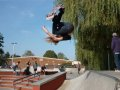 Max Anderson reaches for the skies - Rodeo in the Winchester quarterpipe