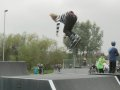 Max Anderson landing a backflip on rollerblades, Huntingdon!
