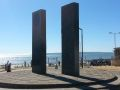 Stone monoliths by the pier, Boscombe