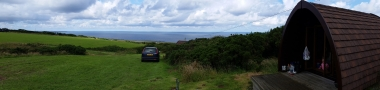 Panorama from Delabole - Port Isaac in the distance...