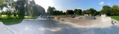 Panorama of the recently redesigned Salisbury skatepark