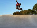 Rob pops out the bowl with a backside melon at Crossways, Warmwell