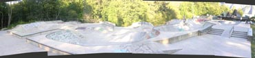 Panorama composite of the superb Squamish skatepark - half a million dollars well-spent...