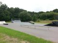The street section of West Moors skatepark