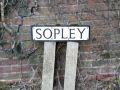 Sopley sign on the on-way-system