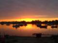 Sunset over Christchurch Harbour, from Mudeford Quay