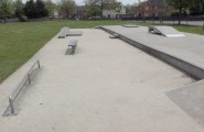 Toytown skatepark in West Howe, Poole - full of miniturised objects