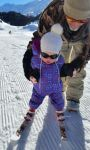 Violet getting her first taste of skiing! Obergurgl