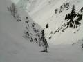 Rosco loving the powder in the Le Tour backcountry