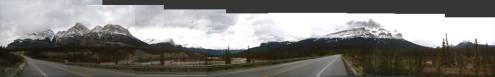 180-degree panorama in Banff National Park