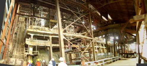 The interior of the mining processing building has been used as a film set for many famous films...