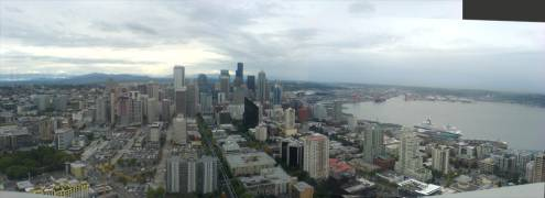 View from the Space Needle of Seattle CBD