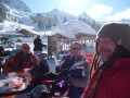 Relaxing at a lengthy lunchbreak in Adelboden