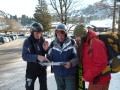 Colin shows the route across Gstaad to the next leg of the journey