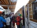 Boarding the train in Gstaad