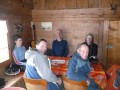 Lunch in a tiny traditional wooden hut - this was it!