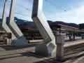 Unusual architecture at Aigle station