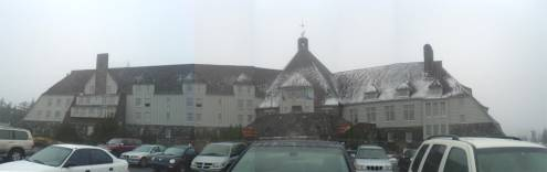 The familar exterior of Timberline Lodge - known to most as the Overlook Hotel from The Shining
